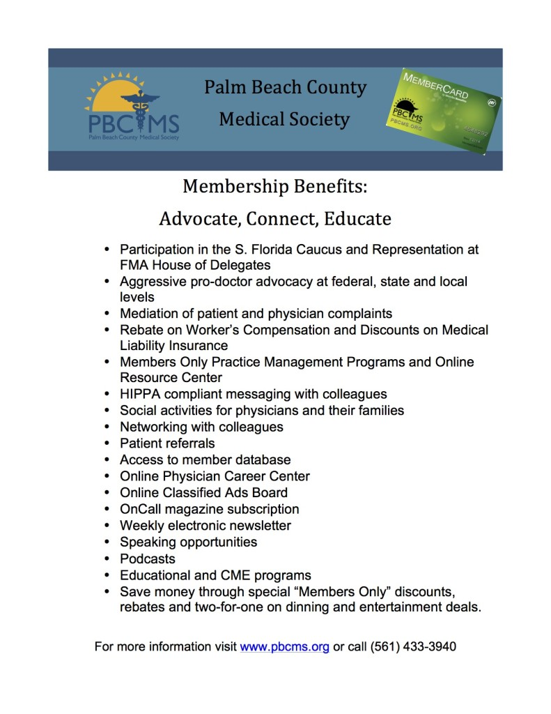 2015 PBCMS Membership Flyer